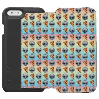 Crazy Aliens & Pizza Emoji Pattern Incipio Watson™ iPhone 6 Wallet Case