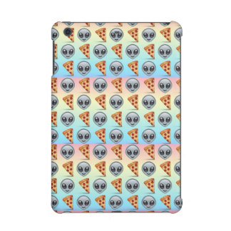 Crazy Aliens & Pizza Emoji Pattern iPad Mini Retina Cases