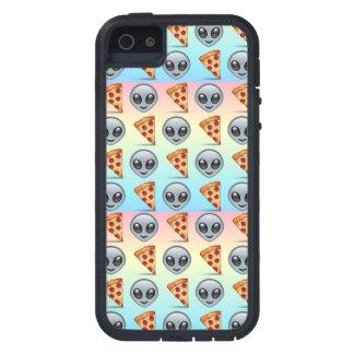 Crazy Aliens & Pizza Emoji Pattern iPhone 5 Covers