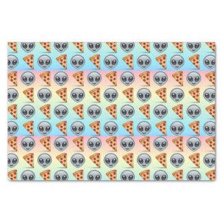 Crazy Aliens & Pizza Emoji Pattern Tissue Paper