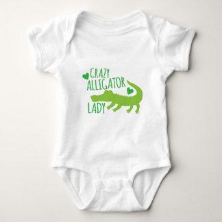 crazy alligator lady baby bodysuit