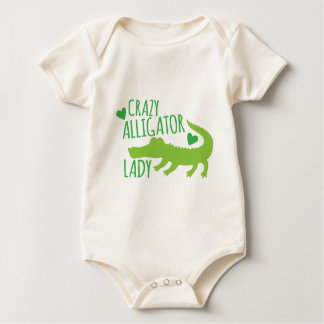 crazy alligator lady baby bodysuit