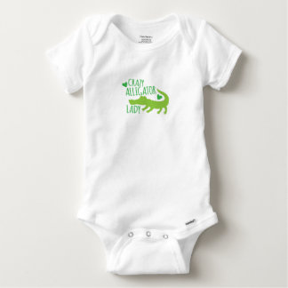 crazy alligator lady baby onesie