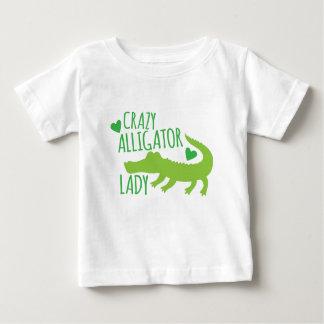 crazy alligator lady baby T-Shirt