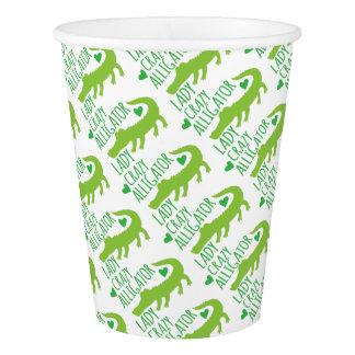crazy alligator lady paper cup