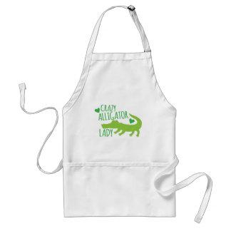 crazy alligator lady standard apron