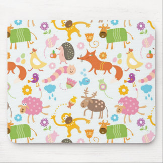 Crazy Animals Mouse Pad
