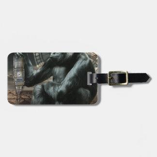 Crazy Ape Gorilla Animal Bag Tag