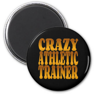 Crazy Athletic Trainer in Gold Magnet