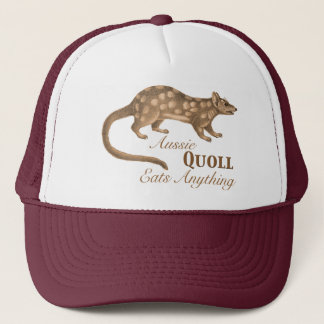 Crazy Aussie Quoll Eats Anything Trucker Hat