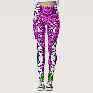 Crazy Aztec Zebra Print Pattern Womens Leggings