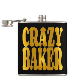 Crazy Baker in Gold Flask