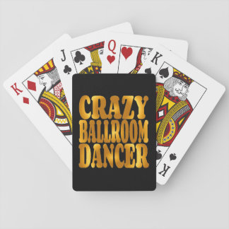 Crazy Ballroom Dancer in Gold Playing Cards