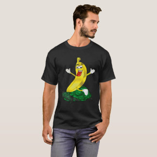 Crazy Banana riding a Turtle T-Shirt