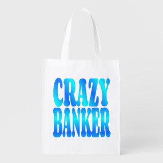 Crazy Banker Reusable Grocery Bag