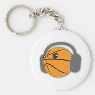 Crazy Basketball Basic Round Button Keychain