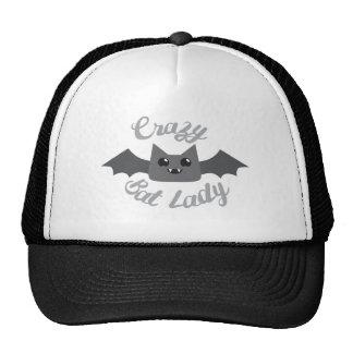crazy bat lady circle trucker hat