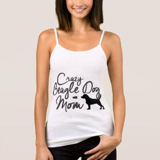Crazy Beagle Dog Mom Tank Top