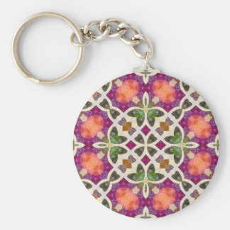 Crazy Beautiful Abstract Basic Round Button Keychain