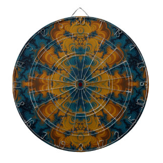 Crazy Beautiful Abstract Dartboard With Darts