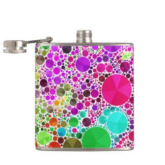 Crazy Beautiful Abstract Hip Flask