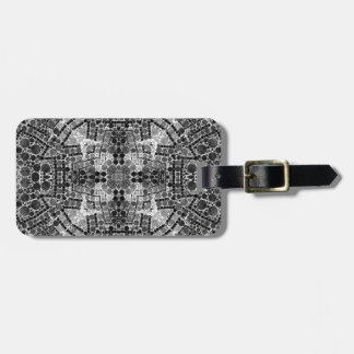 Crazy Beautiful Black&White Abstract Luggage Tag