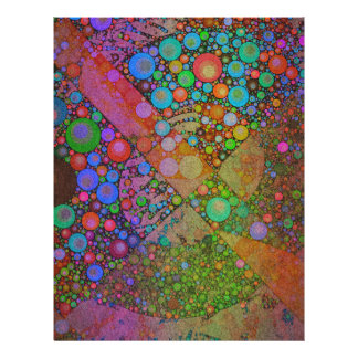 Crazy Beautiful Neon Abstract Letterhead