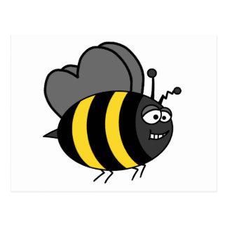 Crazy Bee Postcard