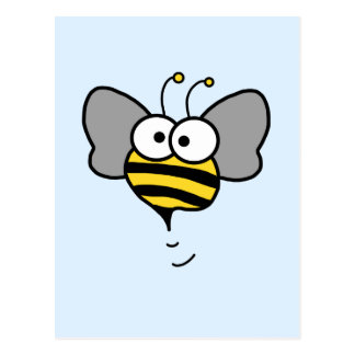 Crazy Bee Postcard