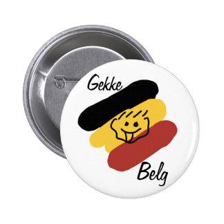 Crazy belgian 2 inch round button