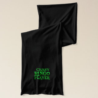 Crazy Bingo Player in Green Scarf