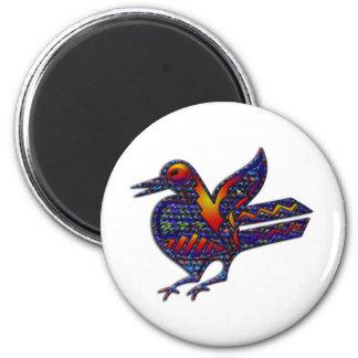 Crazy Bird Fridge Magnets