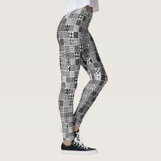 Crazy Black and White Pattern Leggings