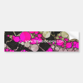 Crazy Bling Abstract Bumper Sticker
