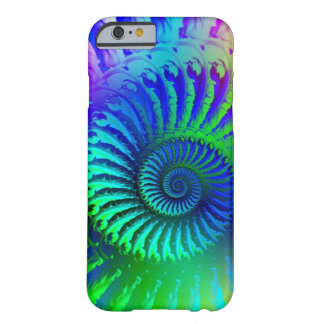 Crazy Blue Fractal Pattern Barely There iPhone 6 Case