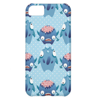 Crazy Blue Monsters Fun Creatures Gifts for Kids Case For iPhone 5C