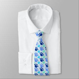 Crazy Blue Paw Tie