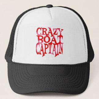 Crazy Boat Captain in Crazy Red Trucker Hat