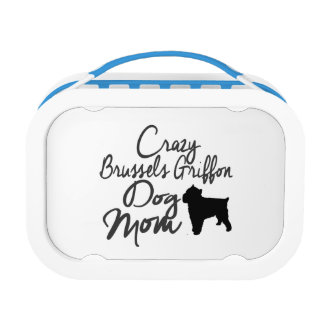 Crazy Brussels Griffon Dog Mom Lunch Box