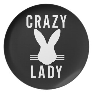 CRAZY BUN LADY DINNER PLATES