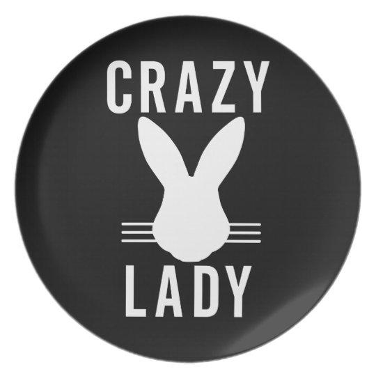 CRAZY BUN LADY PLATE