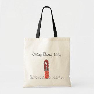 CRAZY BUNNY LADY TOTE BAG