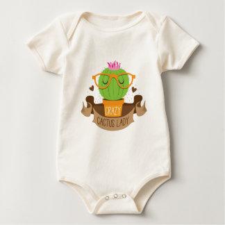 crazy cactus lady banner baby bodysuit