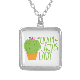 Crazy Cactus Lady Silver Plated Necklace