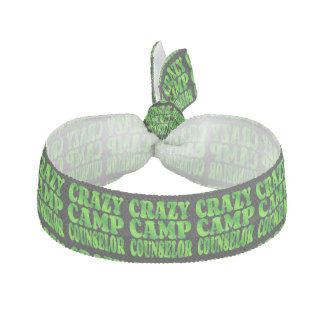 Crazy Camp Counselor in Green Hair Tie