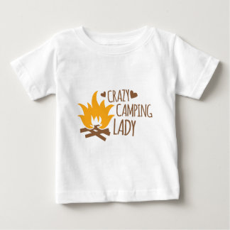 Crazy Camping Lady Baby T-Shirt
