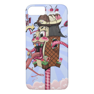 Crazy Candy Shop Illustration iPhone 8/7 Case