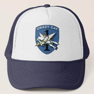 Crazy Cat Aviation 1 Trucker Hat