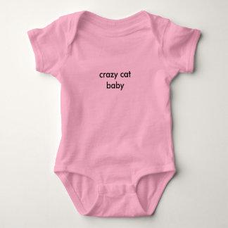crazy cat baby baby bodysuit