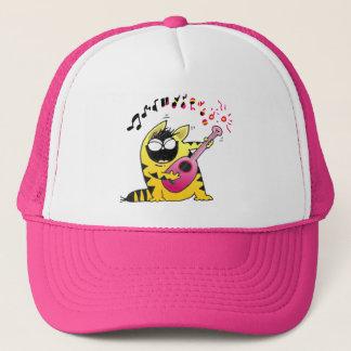 Crazy Cat Guitarist Trucker Hat